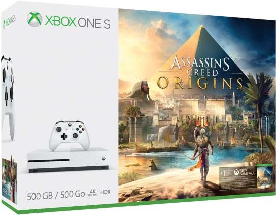 Microsoft XBOX One S 500GB Assassins Creed Origins, Tom Clancys Rainbow Six Siege Bundle