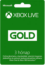 Xbox One 3 hónapos Xbox Live Gold előfizetés minden profilhoz