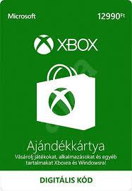 Xbox Live 12990 Ft értékű ajándékkártya