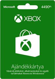 Xbox Live 4490 Ft értékű ajándékkártya