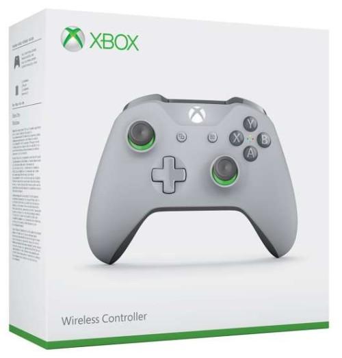 Xbox One Grey/Green Controller Wireless 3.5mm Jack