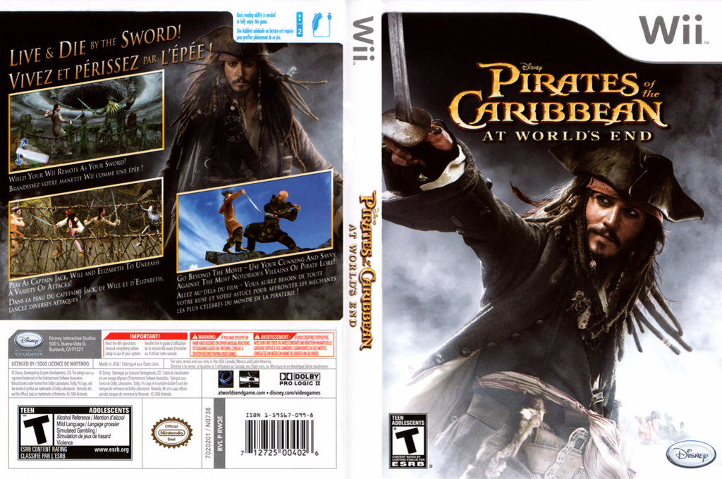 Disney Pirates of Caribbian at worlds end
