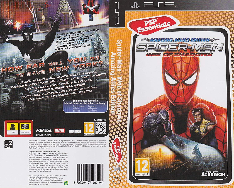 Spider Man Web of Shadows Amazing Allies Edition - PSP Játékok