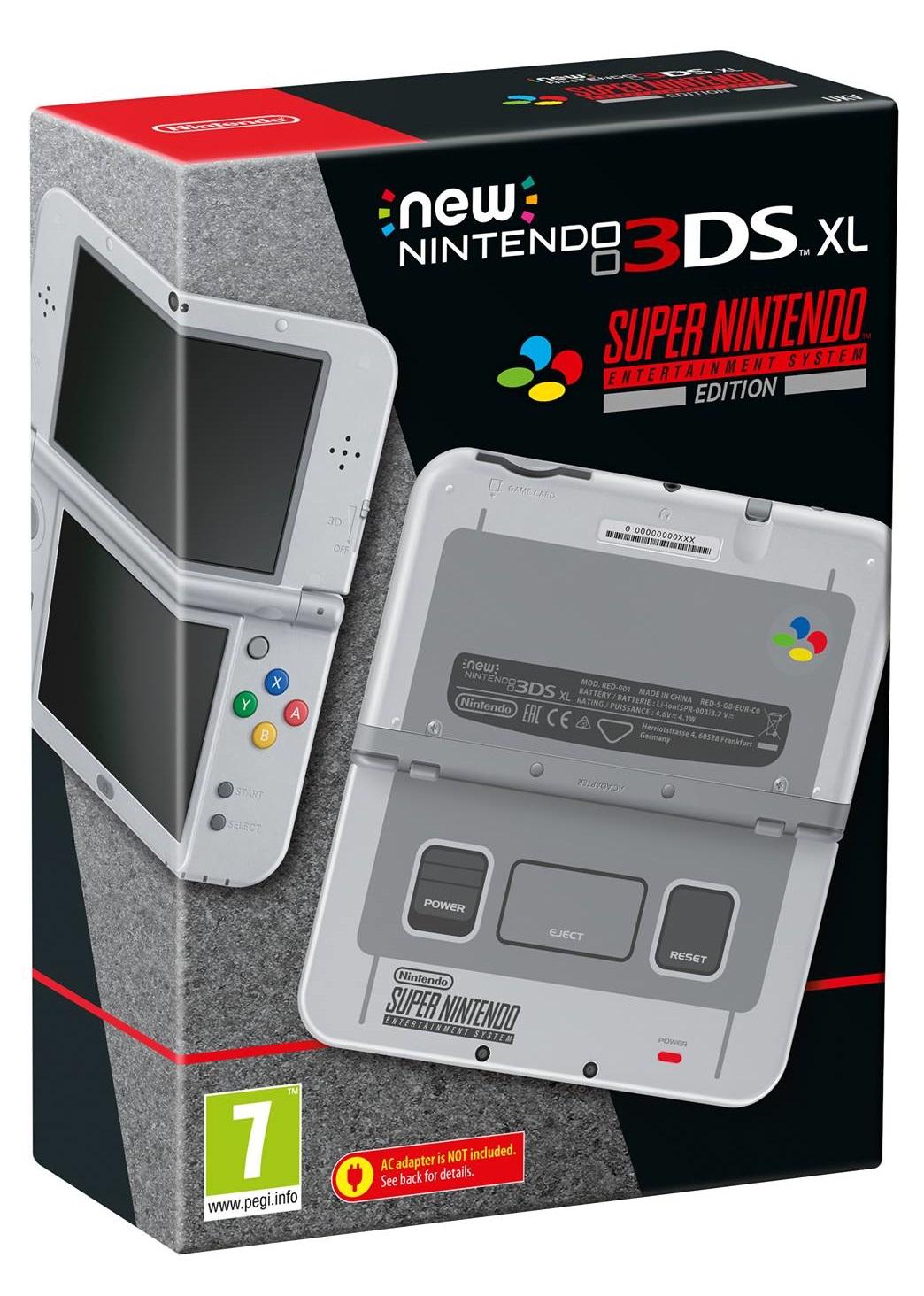 New Nintendo 3DS XL SNES (Super Nintendo) Edition