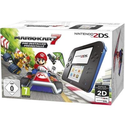 Nintendo 2DS Fekete-kék + Mario Kart 7