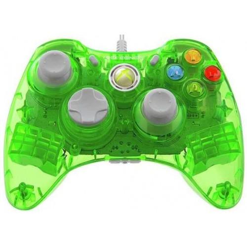 Xbox 360 Rock Candy Green Controller Vezetékes