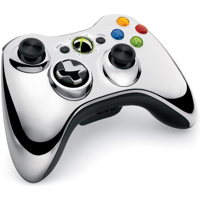 Xbox 360 Wireless Controller Króm - Xbox 360 Kiegészítők