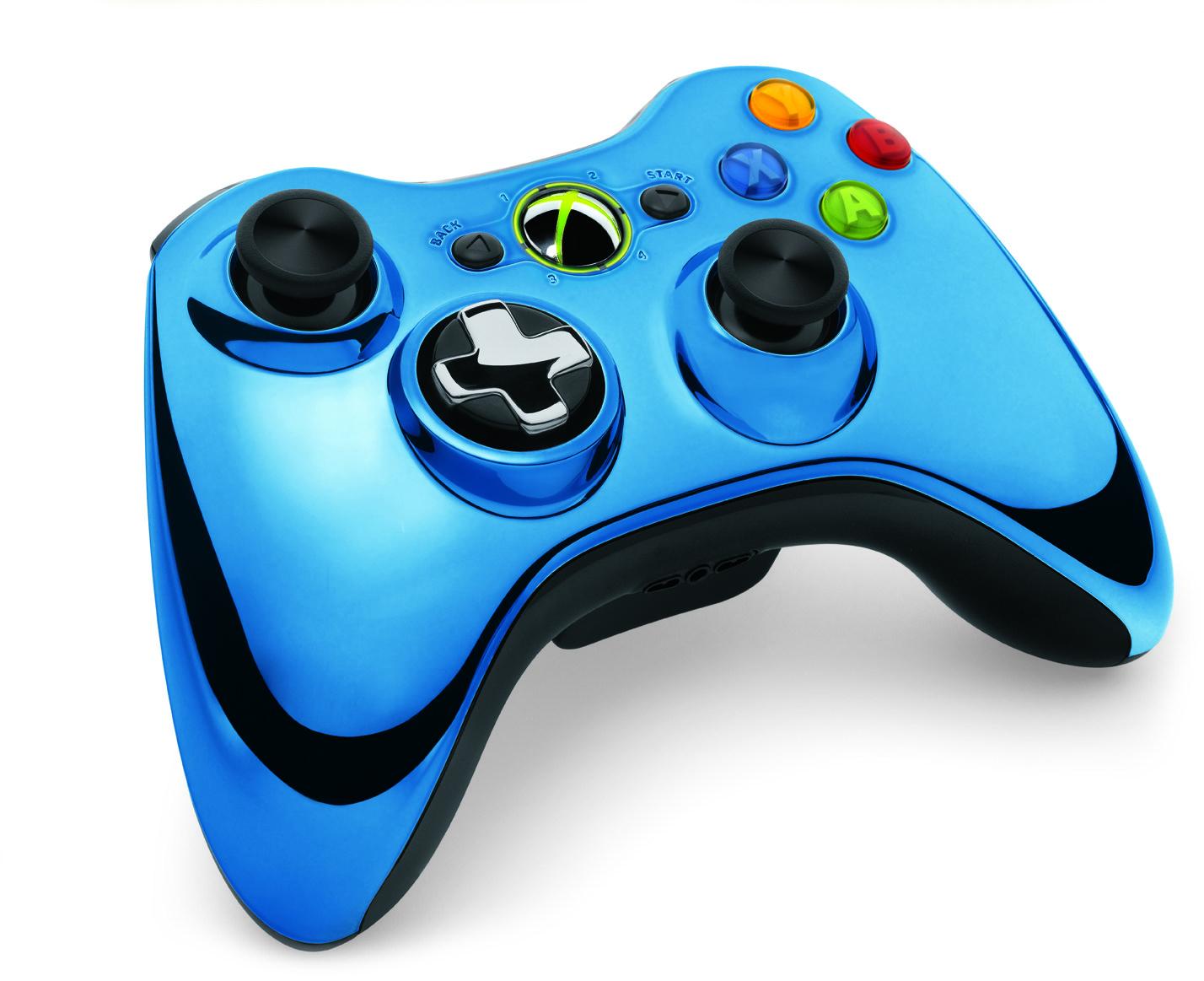 Xbox 360 Wireless Controller Kék Króm