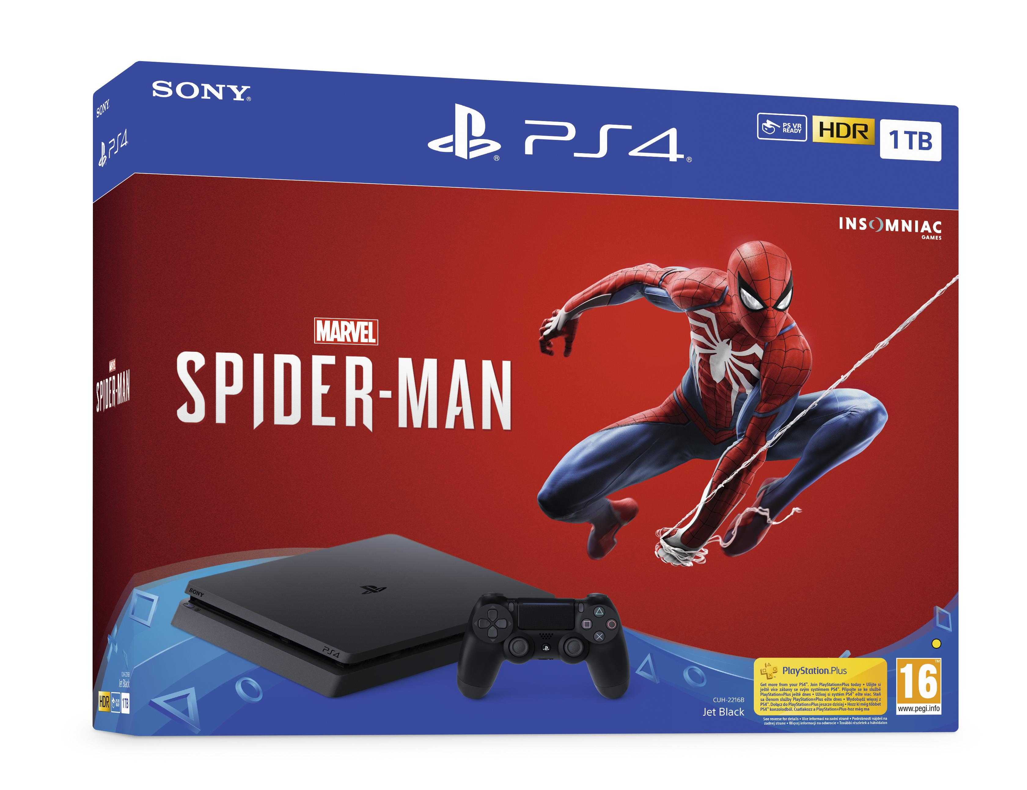 PlayStation 4 Slim 1 TB Spider Man Bundle