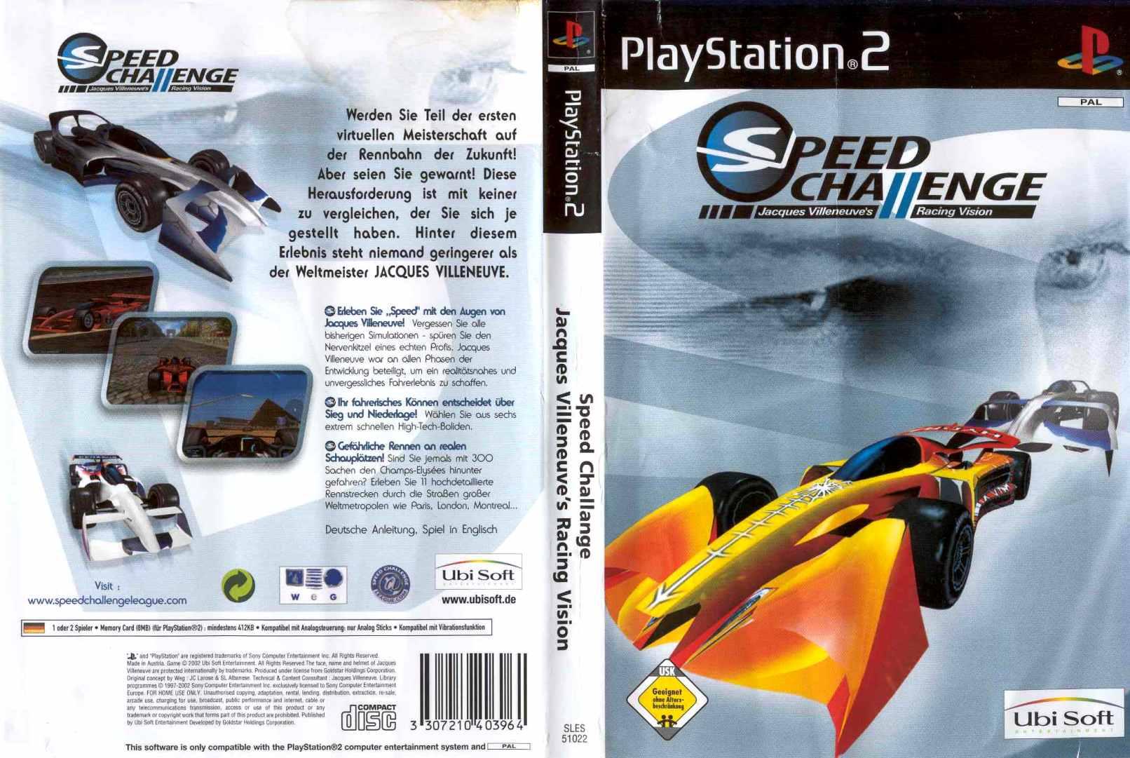 Speed Challenge Jacques Villeneuves