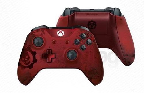 Xbox One Wireless (Vezeték nélküli) Controller Gears of War 4 Crimson Omen Limited Edition  - Xbox One Kiegészítők