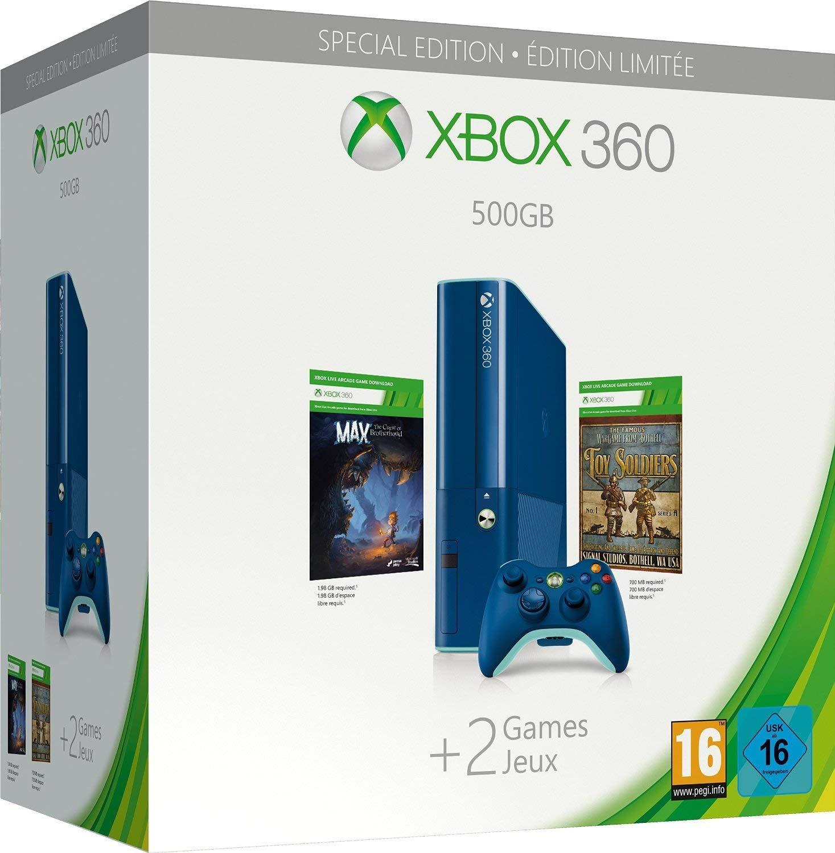 Xbox 360 500 GB E Slim Limited Blue Edition