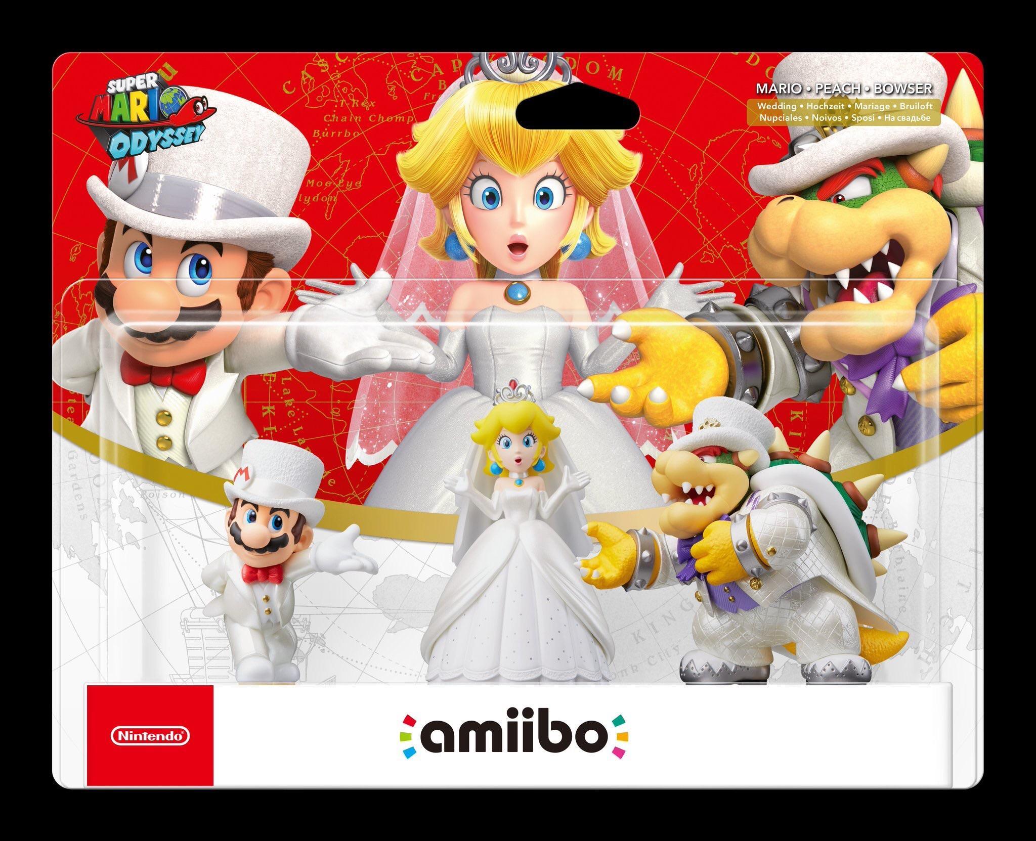 Mario Peach Bowser Amiibo Super Mario Odyssey