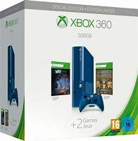 Xbox 360 Slim 500 GB Limited Blue Edition + Max + Toy Soldiers