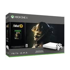 Microsoft Xbox One X 1Tb White +Fallout 76 Special Edition