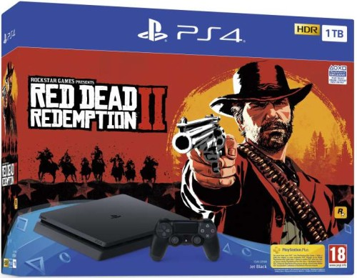 Sony PlayStation 4 Slim 1TB + Red Dead Redemption 2