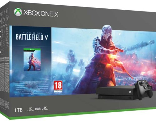 Microsoft Xbox One X 1 TB + Battlefield V Deluxe Edition
