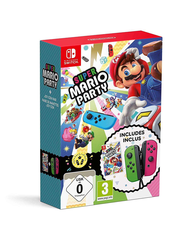 Super Mario Party + Neon Green/ Neon Pink Joy-Con
