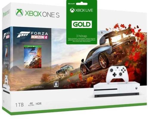 Microsoft Xbox One S 1 TB + Forza Horizon 4 + 3 hónap Xbox Live Gold + Vertikális állvány