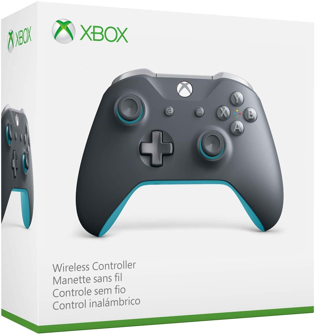Xbox One Grey Blue Controller Wireless 3.5mm Jack