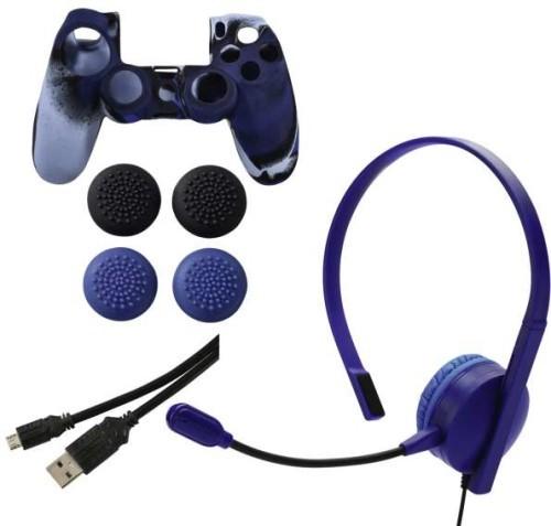 Hama Controller Accessories Set ( Ps4)(Lila szín) - PlayStation 4 Kiegészítők