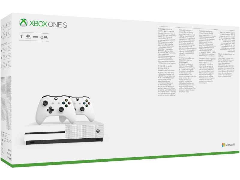 Microsoft Xbox One S 1TB 2db Xbox One Wireless Controllerel White