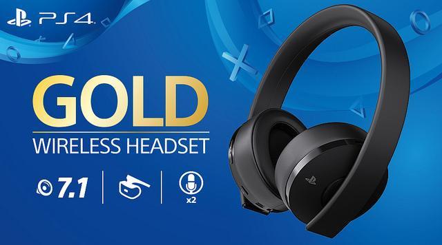 PlayStation Gold Wireless Headset 7.1 - Fekete