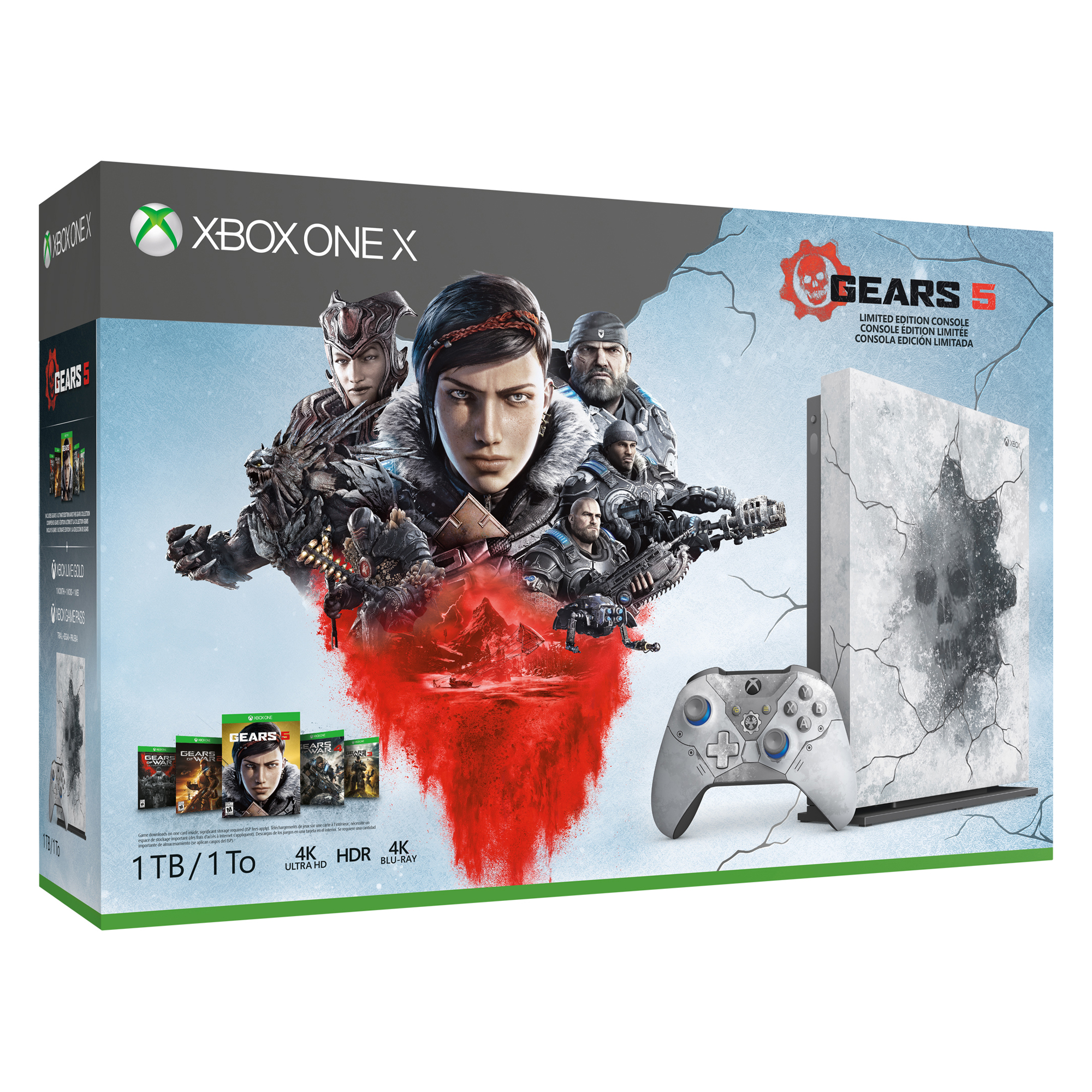 Microsoft Xbox One X 1TB Limited Edition + Gears 5