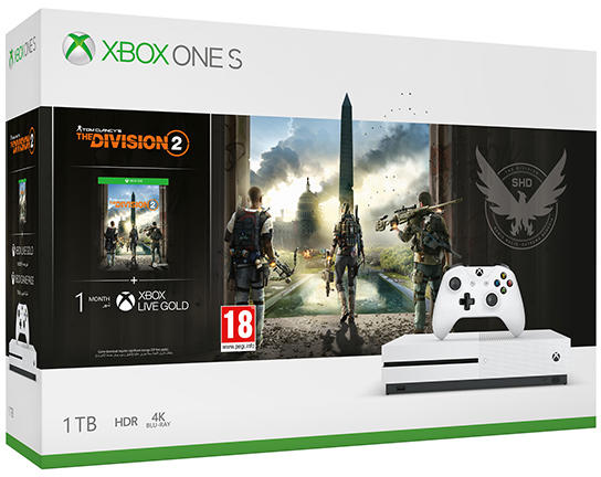 Xbox One S 1TB + Tom Clancys The Division 2