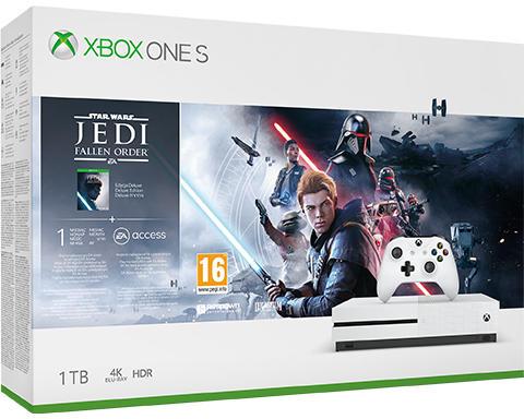 Microsoft Xbox One S 1TB + Star Wars Jedi Fallen Order Deluxe Edition