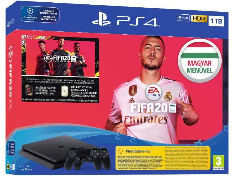 Sony Playstation 4 Slim 1TB + FIFA 20 Játékszoftver + Dualshock v2 kontroller