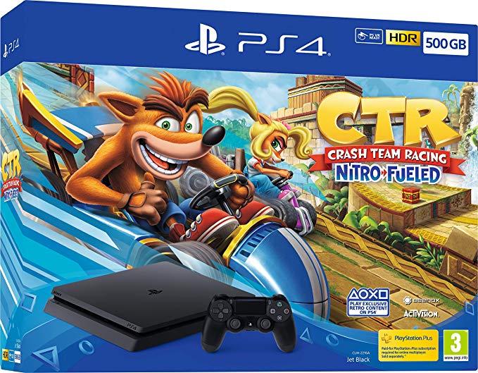 PS4 Slim 500GB CTR Nitro Fueled Bundle