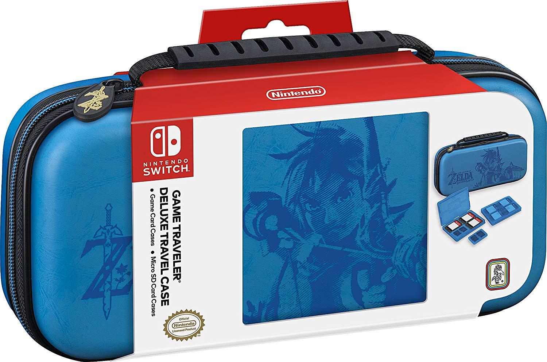 The Legend of Zelda Breath of The Wild Nintendo Switch Travel Case (Kék)