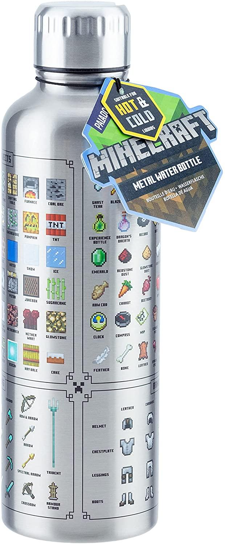 Minecraft Steel Water Bottle 500ml (Termosz)