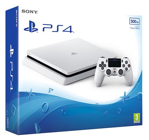 Sony Playstation 4  Slim 500 GB Glacier White