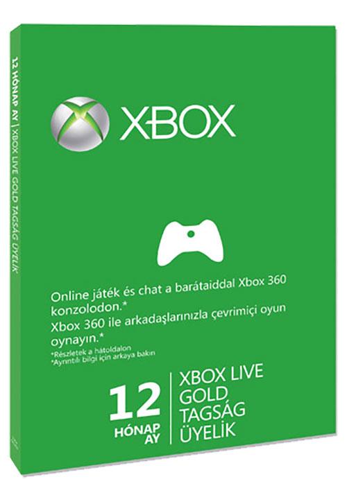 Xbox One 12 hónapos Xbox Live Gold előfizetés minden profilhoz